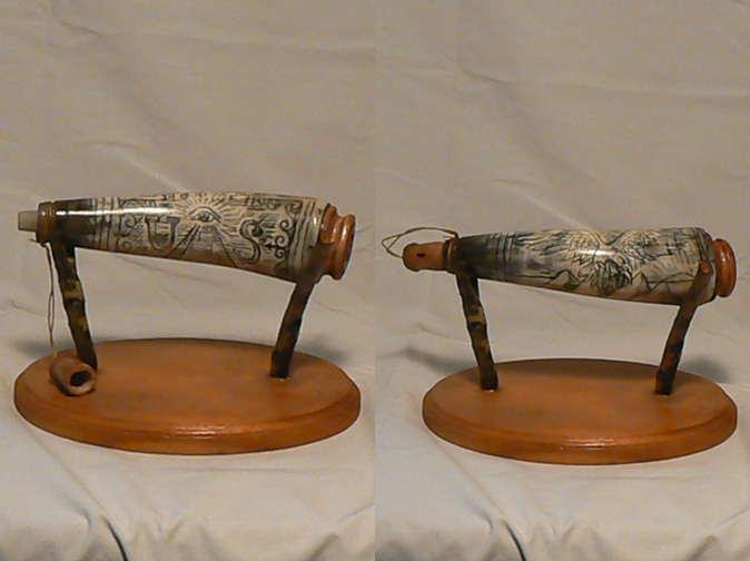 """Traditional Scrimshaw Powder horn"""