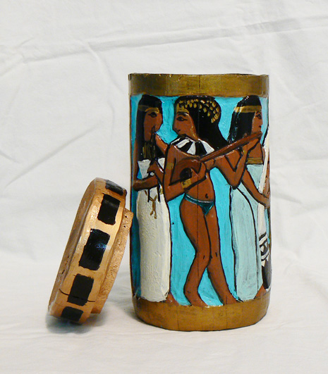 """Egyptian Funerary Vase"""