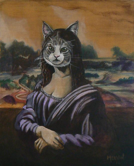 """Mona Cat Head"""