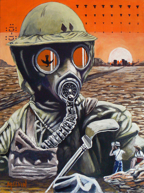 """The Gas Mask Series #3/ for the tourists"""